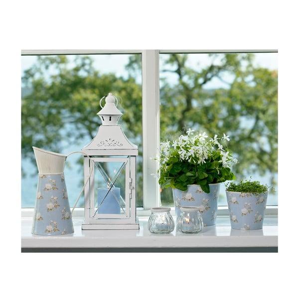 Váza/konev se vzorem, modrá