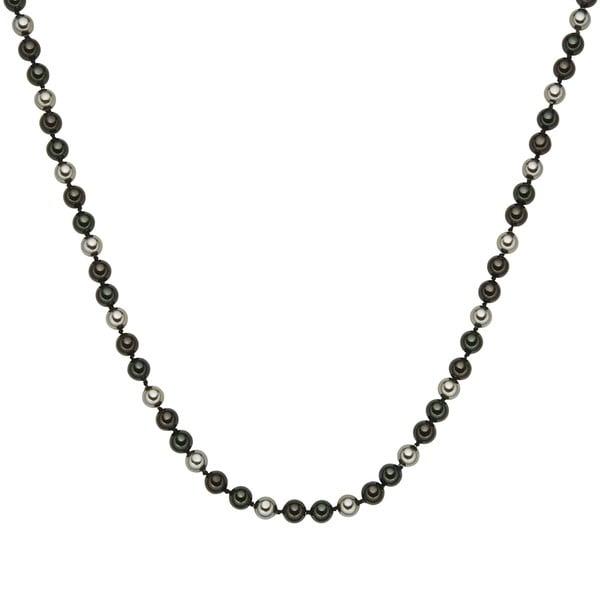 Perlový náhrdelník Muschel, zelenohnědé perly 8 mm, délka 42 cm