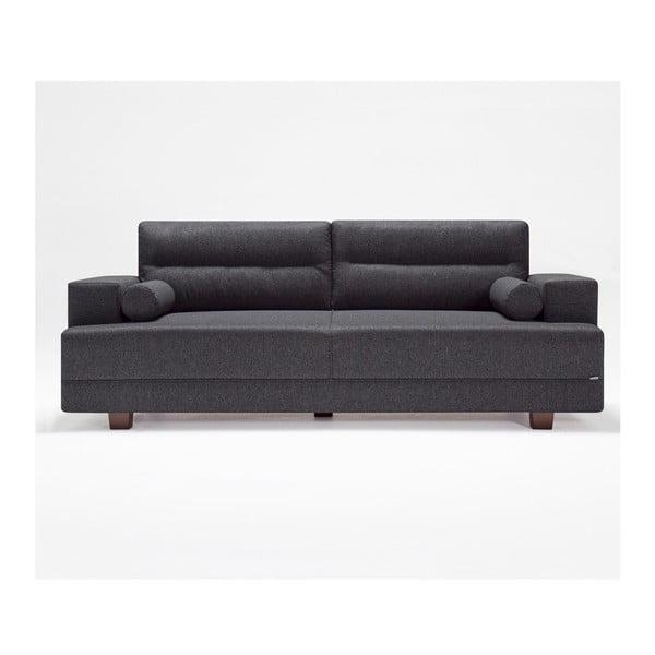Szara sofa z podnóżkiem Balcab Home Ivett