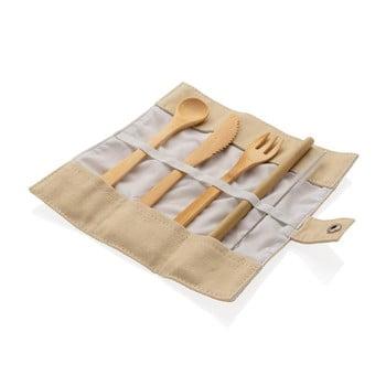 Set de tacâmuri de călătorie din bambus reutilizabile XD Collection