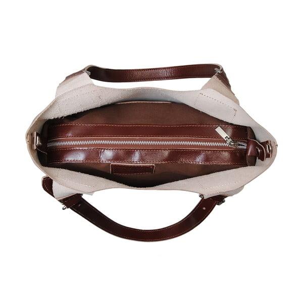 Hnědá kabelka z pravé kůže Andrea Cardone Stefano