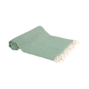 Světle zelená ručně tkaná osuška Ivy's Emel, 100x180cm