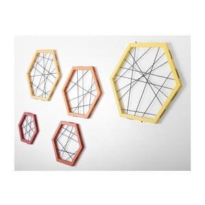 Rachetta Red and Yellow, sada 5 ukládacích rámů