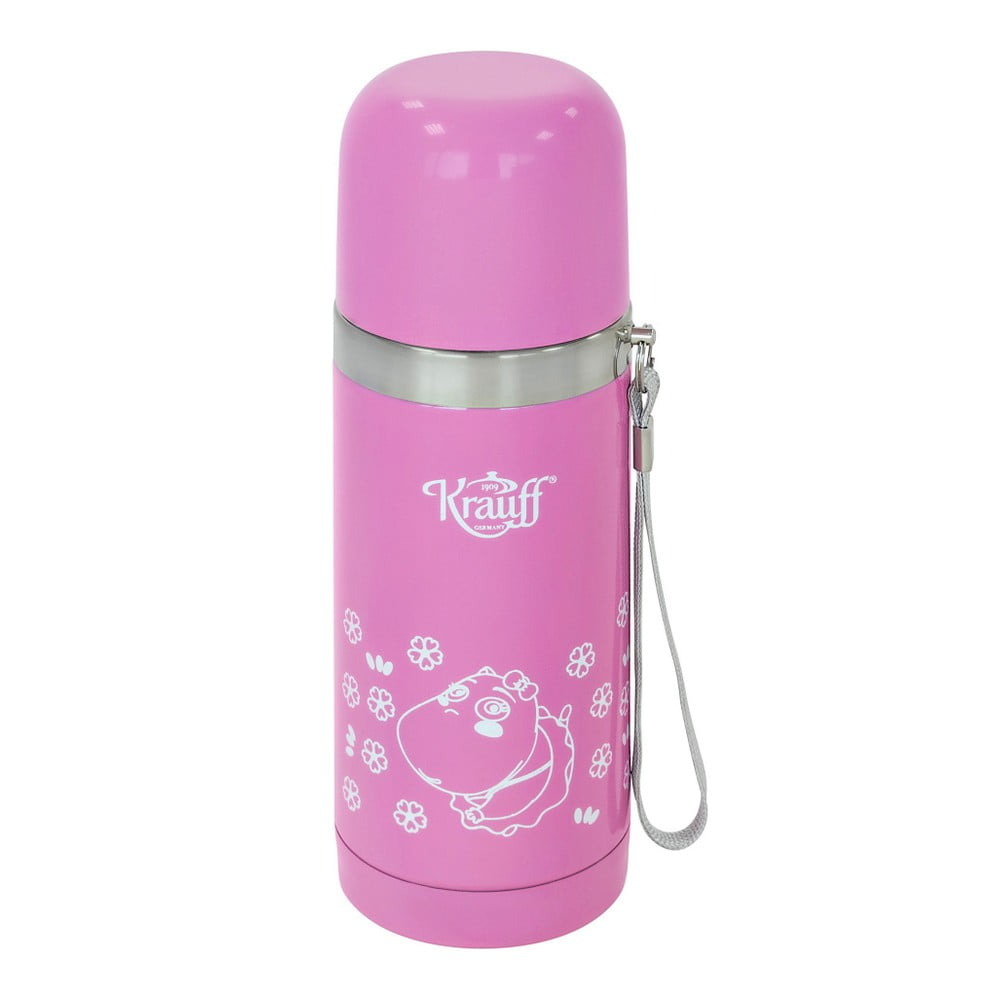 Růžová termoska Krauff Taal, 350 ml