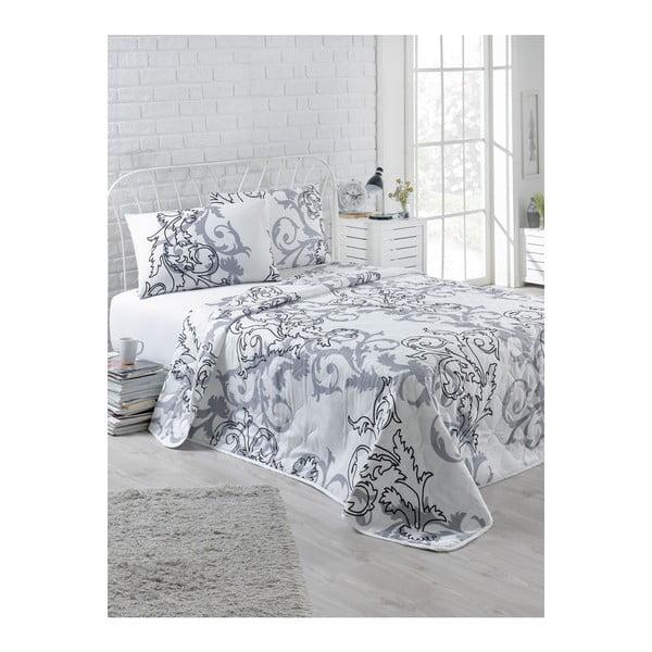 Narzuta pikowana z 2 poszewkami na poduszki Tom, 200x220 cm