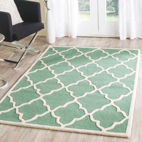 Vlněný koberec Safavieh Noelle Forest, 91x152 cm