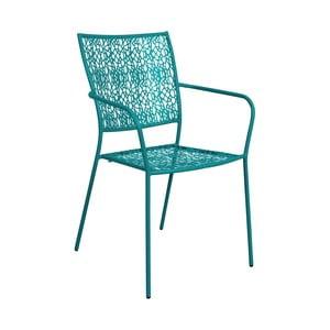Petrolejově modrá židle s područkami Butlers Nancy