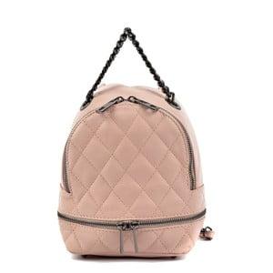 Světle růžový kožený dámský batoh Roberta M Musillo