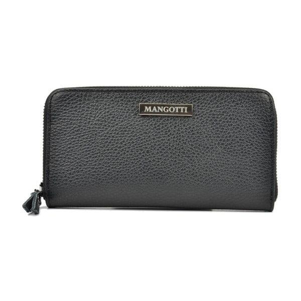 Černá kožená peněženka Mangotti Bags Flora