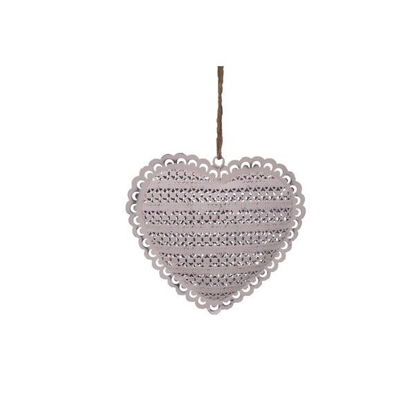 Dekorativní závěsné srdce Antic Line Heart, 14 cm