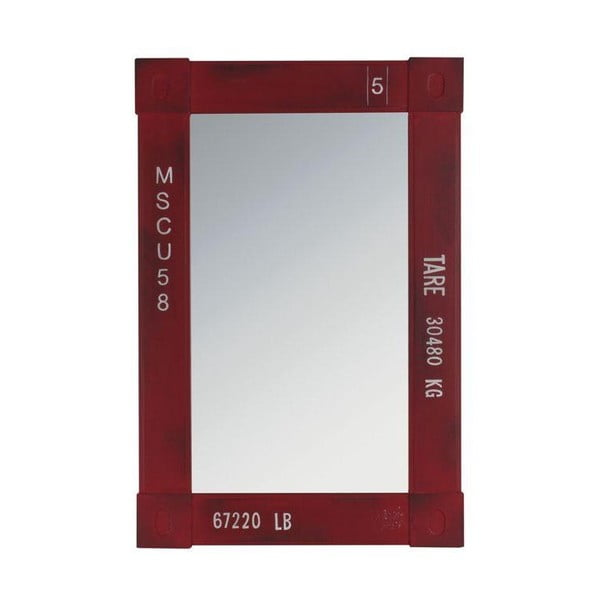 Dřevěné zrcadlo, 60x40 cm