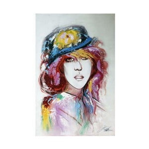 Obraz Dívka s kloboukem II, 60x90 cm