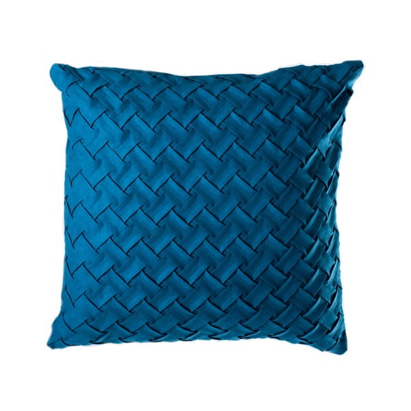 Petrolejově modrý polštář JAHU Gama, 45 x 45 cm