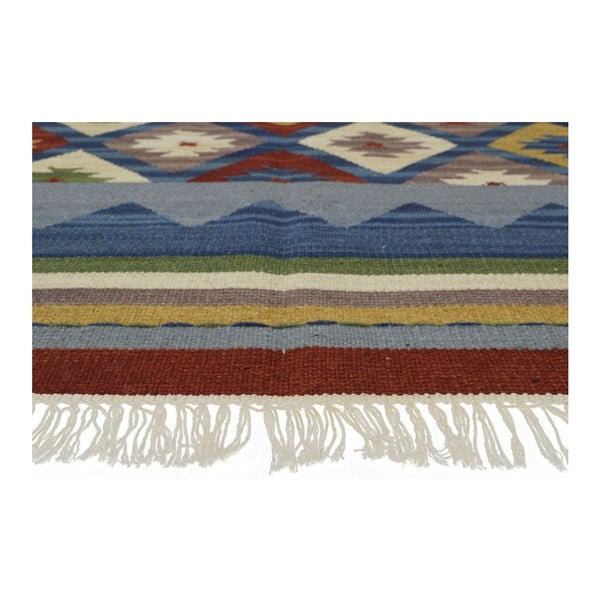 Ručně tkaný koberec Kilim Classic K14 Blue, 125x185 cm