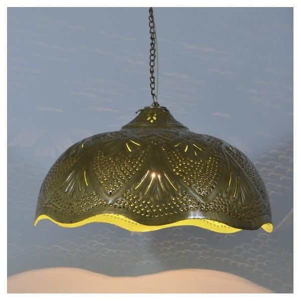 Mosazné stínítko Rajastan, zlato-zelená