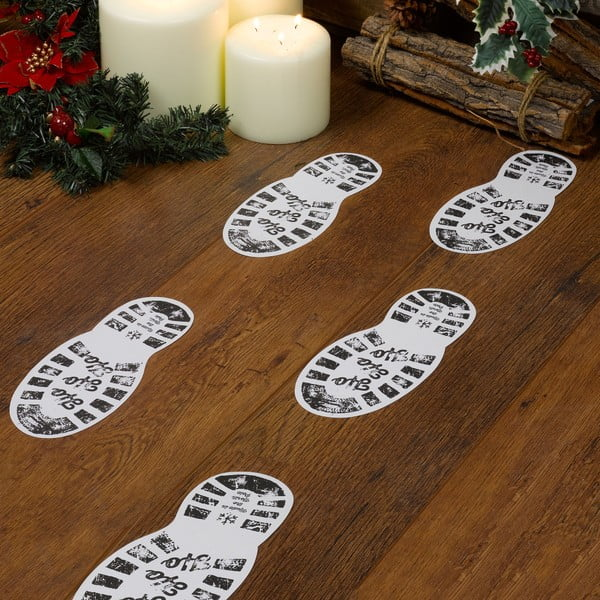 Sada 12 papírových dekorací Neviti Christmas Craft Santa's Boot, 10,5x20cm