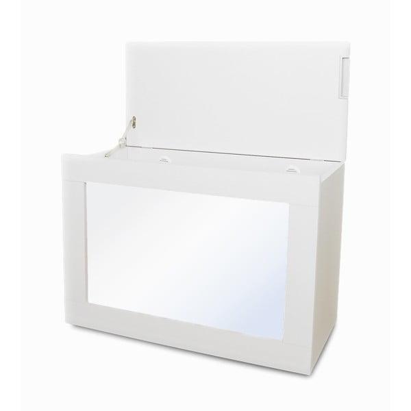 Multifunkční koš Zrcadlo, bílý rám