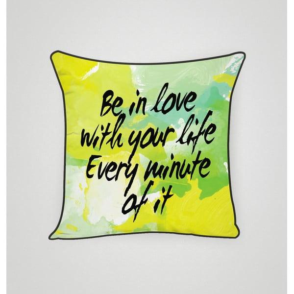 Povlak na polštář In Love With Life, 45x45 cm