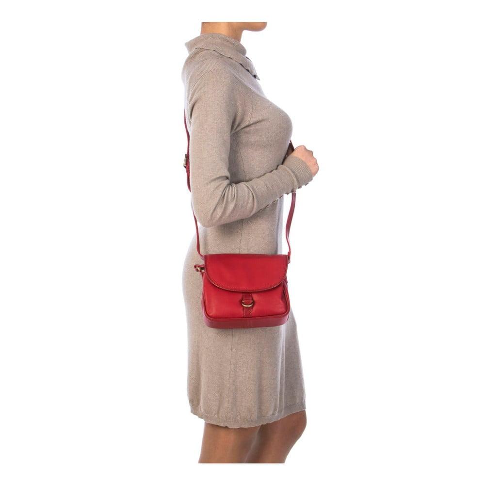 Červená kožená kabelka Gianni Conti Adreanna ... 2e02193fb0f