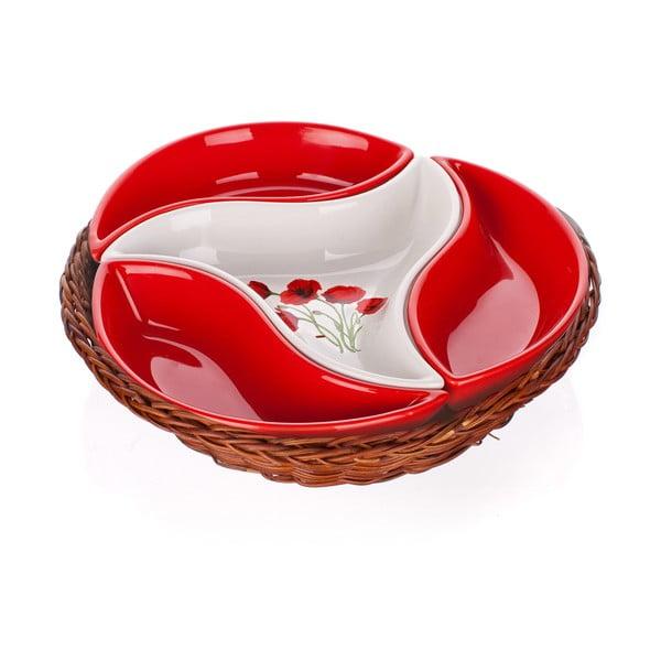 Mísa v košíku Banquet Red Poppy, 23 cm