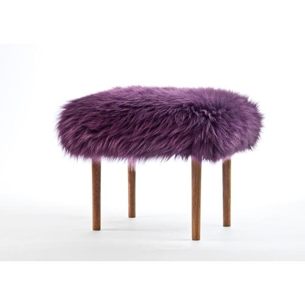 Stolička z ovčí kůže Ceri Aubergine
