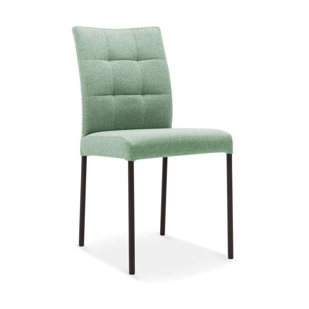 Světle zelená jídelní židle s černými nohami Mossø Fresco