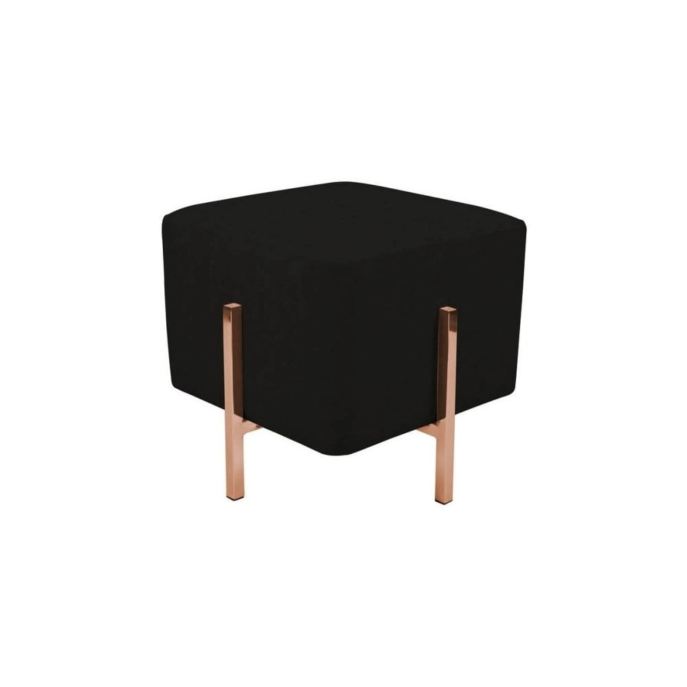Černá stolička s nohami v měděné barvě Vivorum Liani