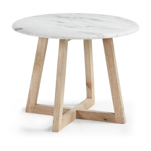 Hella tárolóasztal mangófából és márványból - La Forma