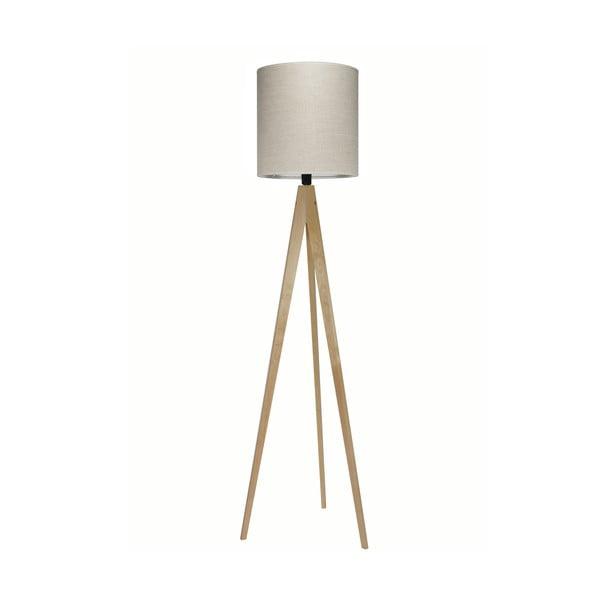 Stojací lampa Artist Grey Linnen/Birch, 125x33 cm