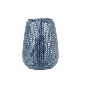 Velká modrá váza Present Time Knitted