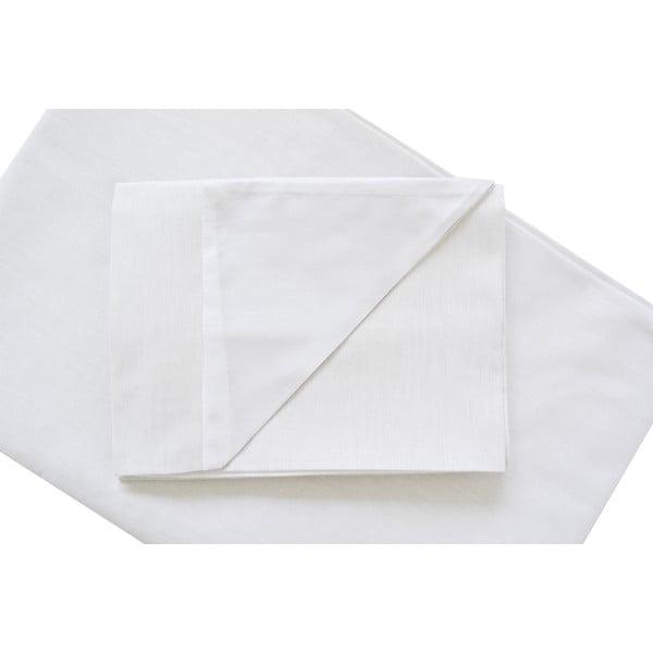 Bílé povlečení Hawke&Thorn Parker Simple,150x200cm +polštář 50x60cm