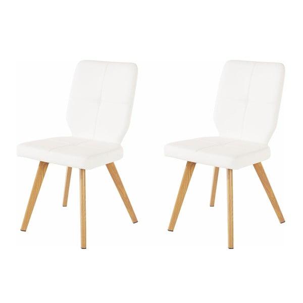 Sada 2 bílých jídelních židlí Støraa Daniel