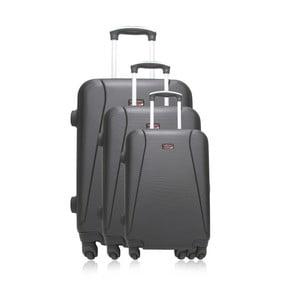 Sada 3 černých cestovních kufrů na kolečkách Hero Jackson