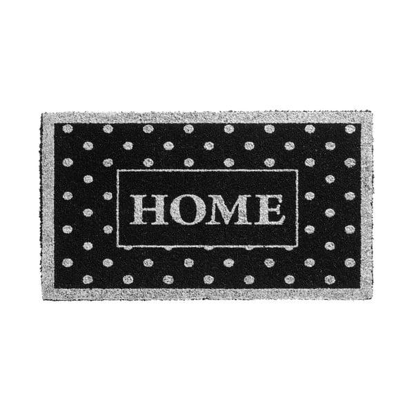 Stříbrnočerná rohožka Hamat Home Dots, 40x70cm