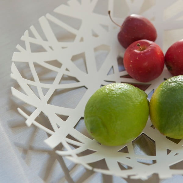 Bol pentru fructe YAMAZAKI Tower, alb