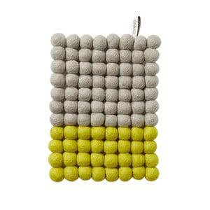 Vlněná podložka Trivet Grey/Lemon, 22x17 cm