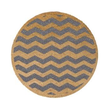 Covor intrare rotund Artsy Doormats Grey Chevron ⌀ 70 cm