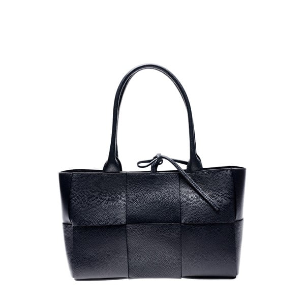Czarna skórzana torebka Anna Luchini, 24x45 cm