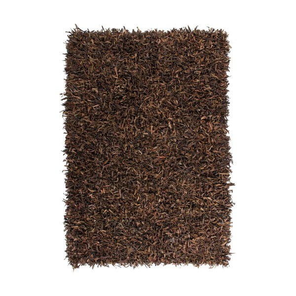 Kožený koberec Rodeo 80x150 cm, hnědý