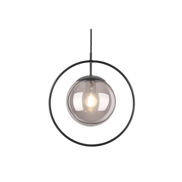 Lustră Leitmotiv Round, înălțime 38cm, gri - negru