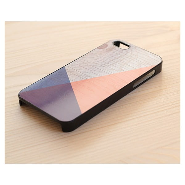 Obal na iPhone 4/4S, Geometric Wood/Black