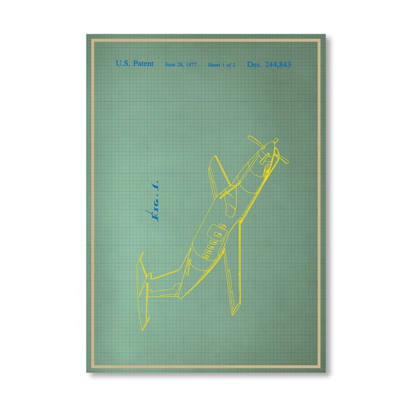 Plakát Airplane II, 30x42 cm