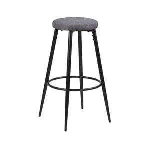 Sada 2 šedých barových židlí Actona Hector