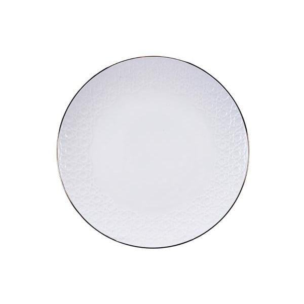 Biały talerz Tokyo Design Studio Nippon Stripe, ø19cm