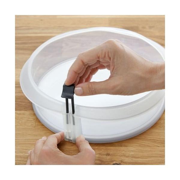 Dortová forma s keramickým talířem, čirá