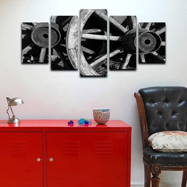 Vícedílný obraz Black&White Wheels