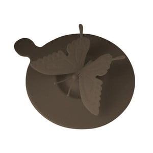 Silikonové víčko na hrnky Vialli Design Butterfly, hnědé