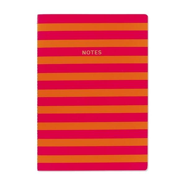 Caiet A4 GO Stationery Stripe, roșu portocaliu