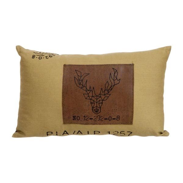 Polštářek J-Line Deer Brown, 40x25 cm