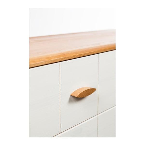 Comodă din lemn de pin cu 7 sertare Askala Maru, lățime 101 cm